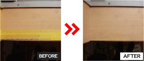 木部補修(窓枠の小口の割れ)